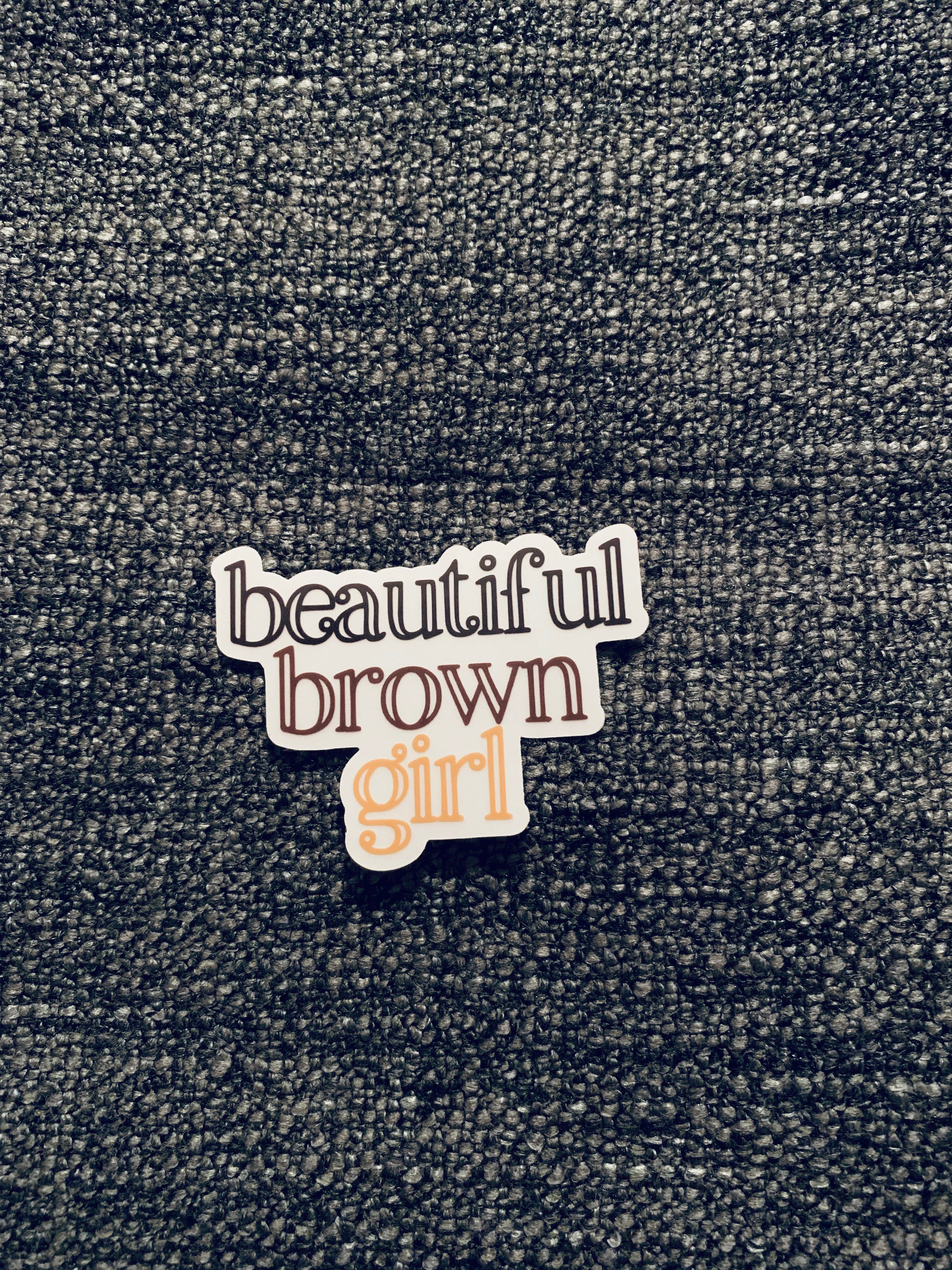 Beautiful Brown Girl Clear Sticker