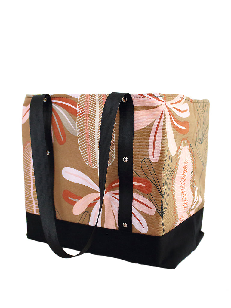 Lugger - Banksia on Ochre - Reusable Shopping/Tote Bag