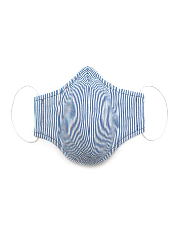 Small Face Mask - Blue Stripe - Washable 3 Layer Mask