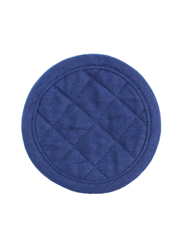 Coaster Set of Two - Navy Linen