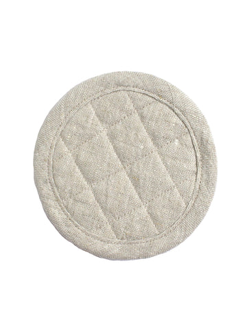 Coaster Set of Two - Oatmeal Linen
