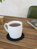 Coaster Set of Two - Black Linen
