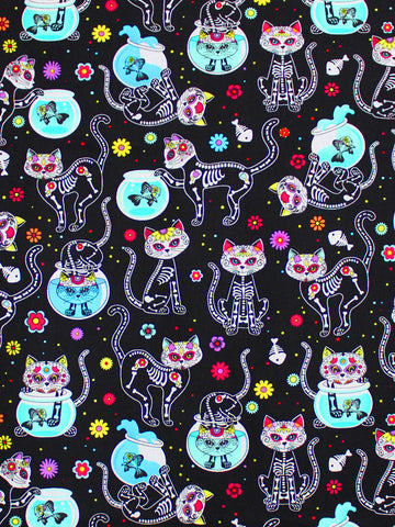 CUSTOM ORDER - DAY OF THE DEAD KITTIES