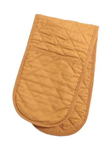 Double Oven Glove - Gingernut Linen