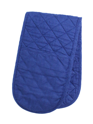 Double Oven Glove - Navy Linen