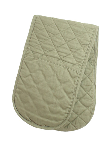 Double Oven Glove - Sage Linen