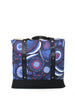 LUGGER - GUM BLOSSOMS NAVY - HANDMADE VEGAN REUSABLE BAG