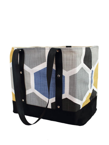 Lugger - Hexagons Blue/Yellow - Reusable Shopping/Tote Bag