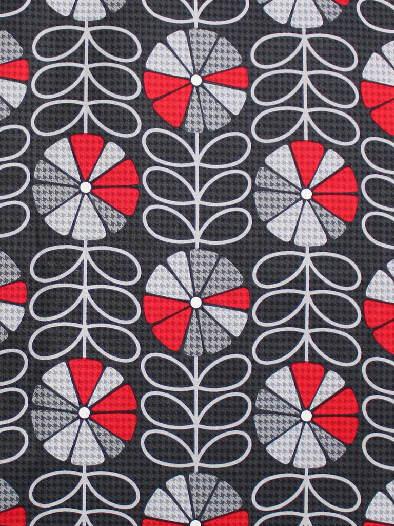 CUSTOM ORDER - HOUNDSTOOTH POPPIES