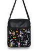 LARGE JETSETTER BAG - DAY OF THE DEAD DOGS - HANDMADE VEGAN BAG