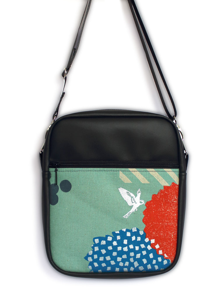 LARGE JETSETTER BAG - ECHINO BLOSSOM MINT - HANDMADE VEGAN BAG