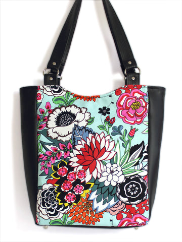 LARGE TOTE BAG - COYOACAN - HANDMADE VEGAN BAG