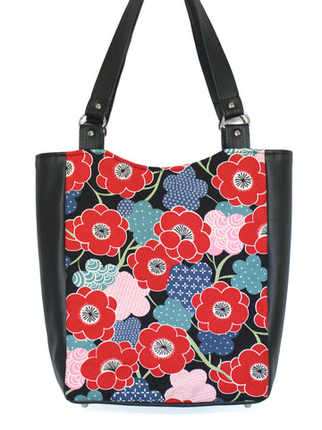 LARGE TOTE BAG - KIKI UME - HANDMADE VEGAN BAG