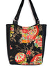 LARGE TOTE BAG - JAPANESE FANS - HANDMADE VEGAN BAG