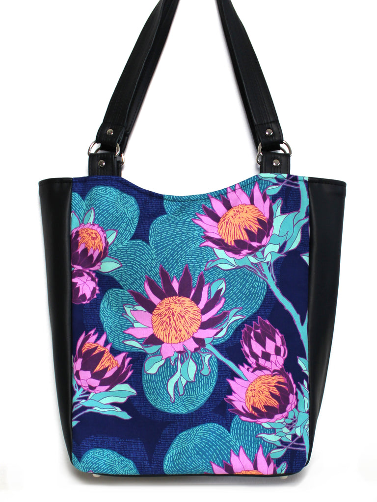 LARGE TOTE BAG - PROTEA - HANDMADE VEGAN BAG