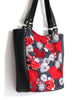 LARGE TOTE BAG - HARAJUKU RED - HANDMADE VEGAN BAG