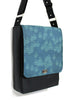 LARGE MESSENGER BAG - GEO RAINDROP BLUE
