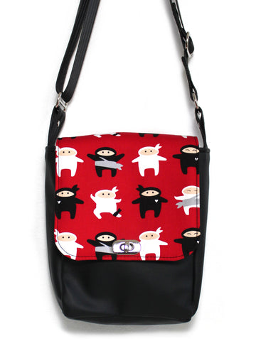 MINI MESSENGER BAG - RED NINJAS