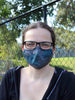 Large Face Mask - Blue Stripe - Washable 3 Layer Mask