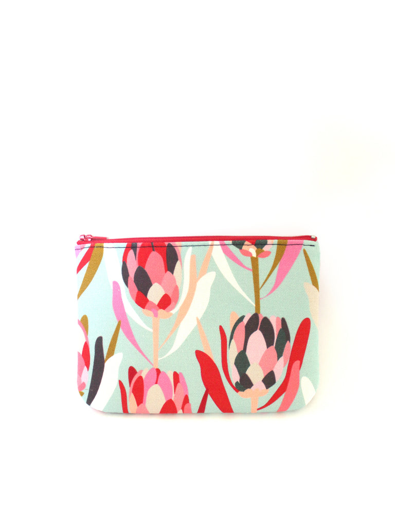 ZIPPERED POUCH - PROTEA BLUE