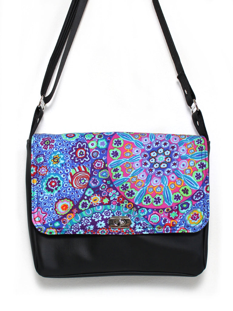 SMALL MESSENGER BAG - MILLEFIORE - VEGAN MESSENGER BAG