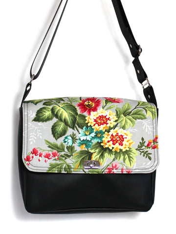 SMALL MESSENGER BAG - VINTAGE GARDEN