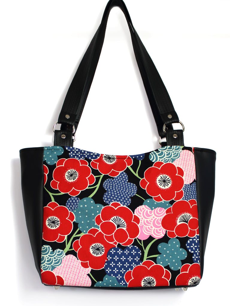 SMALL TOTE BAG - KIKI UME - HANDMADE VEGAN BAG