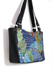 SMALL TOTE BAG - ALEXANDRIA FEATHERS - HANDMADE VEGAN BAG