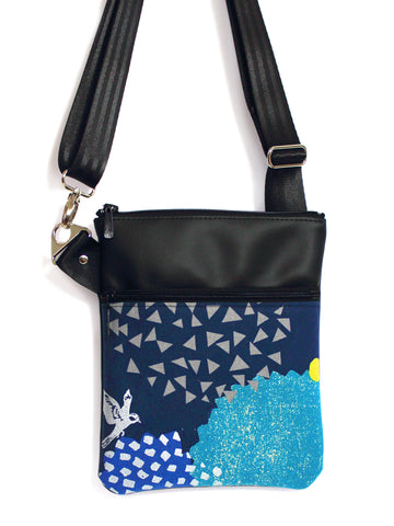 SMALL ZIP-IT - ECHINO BLOSSOM NAVY
