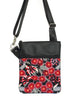 SMALL ZIP-IT - RED FLOWERING GUM - HANDMADE VEGAN BAG