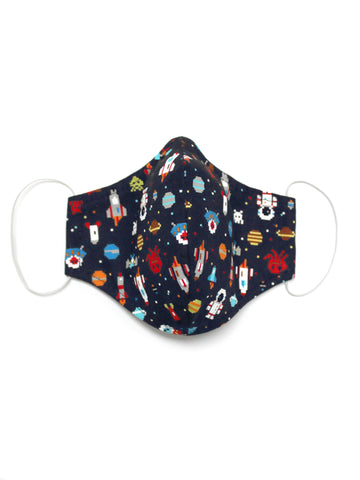 Small Face Mask - Space Invaders - Washable 3 Layer Mask