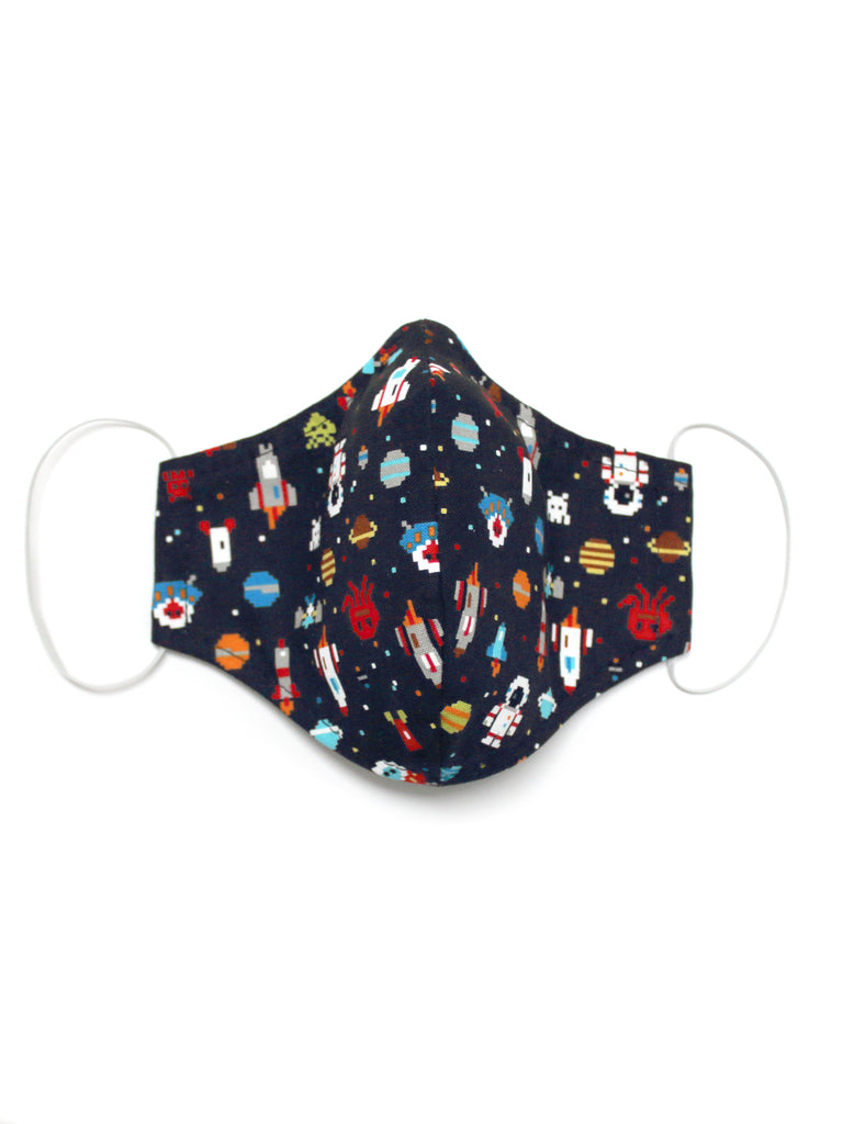 Large Face Mask - Space Invaders - Washable 3 Layer Mask