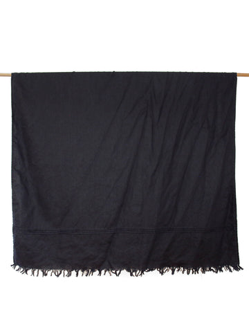 Lightweight Throw - Black Linen