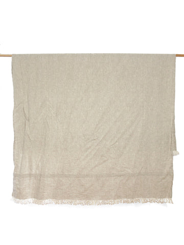 Lightweight Throw - Oatmeal Linen
