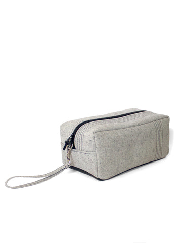 Utility Bag - Grey Chambray - Handmade vegan bag