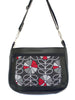 WAYFARER BAG - HOUNDSTOOTH POPPY - HANDMADE VEGAN BAG
