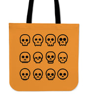 SKULL MADNESS - TOTE BAG (ORANGE)