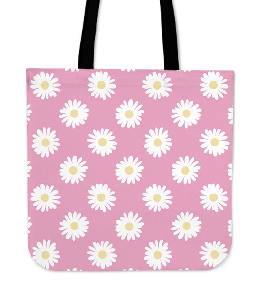 PINK & WHITE DAISY - TOTE BAG