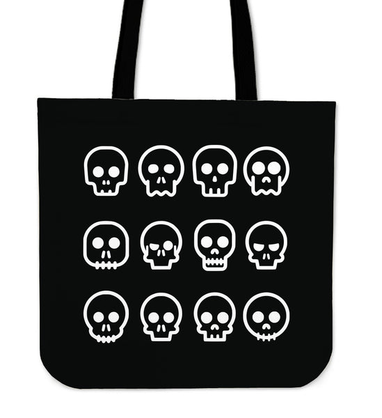 SKULL MADNESS - TOTE BAG (BLACK)