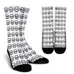 SKULL MADNESS - CREW SOCKS (BLACK)