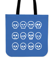 SKULL MADNESS - TOTE BAG (BLUE)