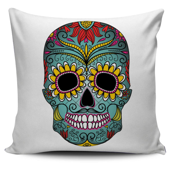 GREEN SKULL - PILLOW COVER