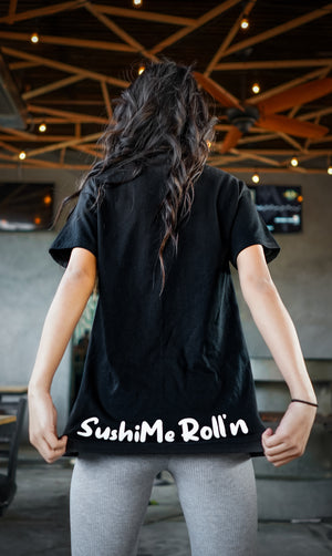 Gushi Shirt backside with SushiMe Roll'n