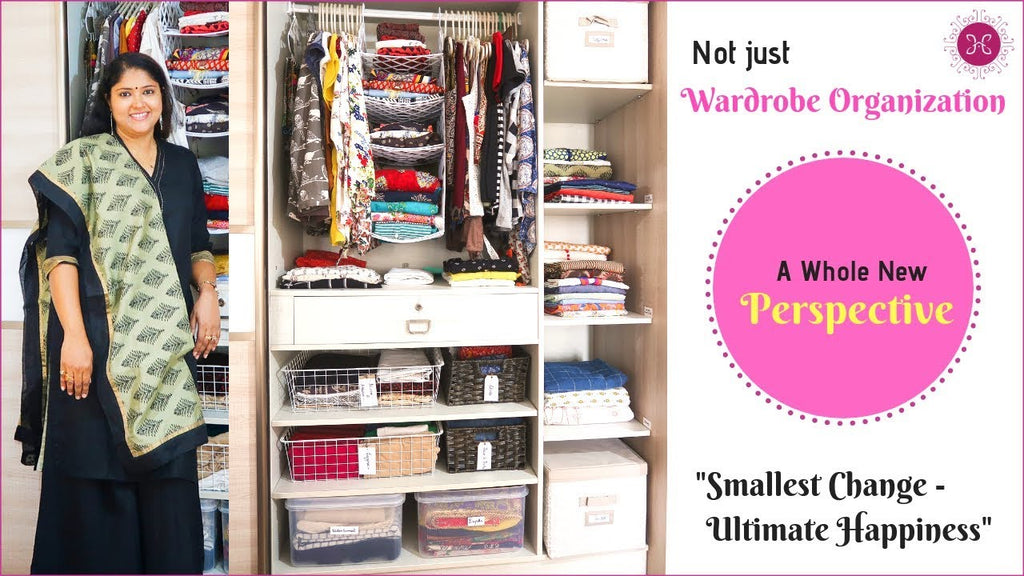 Today's video is on Indian wardrobe organization tips or closet organization ideas