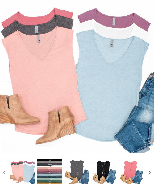Order Here—> Cute Spring Layering Sleeveless Tee for $11.99 (was $23.99) 1 day only.