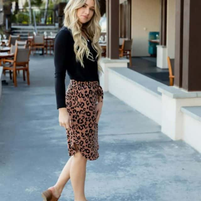 Animal Print Weekend Skirt $17 (Reg