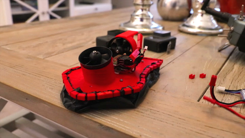 Compact 3D Printed Hovercraft Is Loungeroom Floor Fun