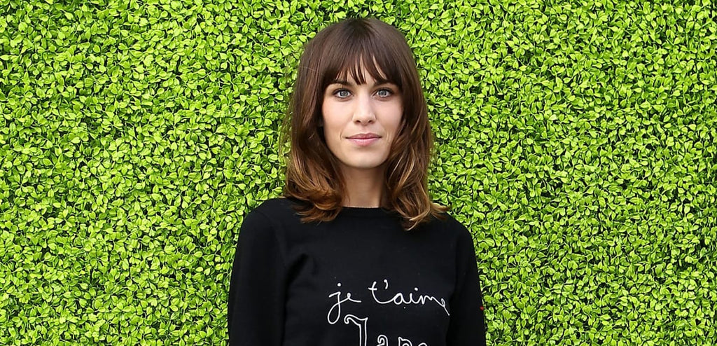 Great Outfits in Fashion History: Alexa Chung in a Bella Freud Sweater and Old Céline Skirt
