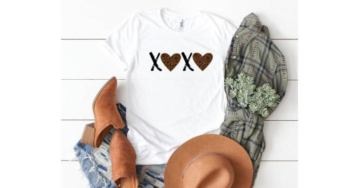 Leopard Print Valentine Tees – Only $13.99!