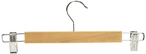 Whitmor GRADE A Natural Wood Skirt Hangers (Set of 5)